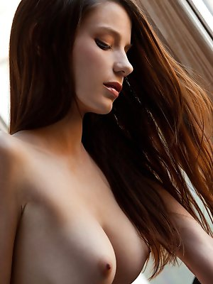 pulls off her moist black panties